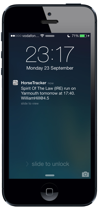 Horse races tracker UK & IRE